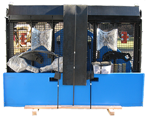 Front View of Desite SLG-108 Topsoil Screener packaged and ready to ship
