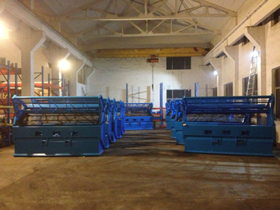 Topsoil Screeners in our warehouse.