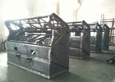 Rock Screeners waiting for powder coat.