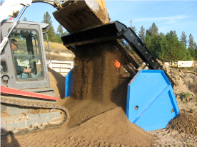 Topsoil Screener with a Vibratory Pack makes screening soil easier.