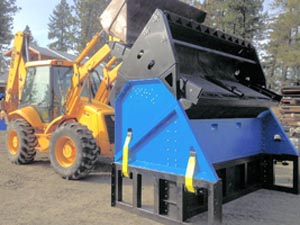 Relative size of the Desite SLG-108VFRB Topsoil Screener