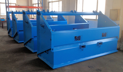 Powder coated, painted topsoil screeners baking at 400 degrees